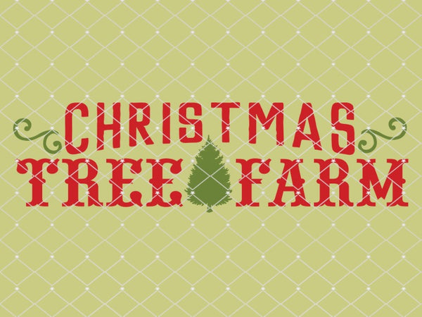 Christmas Tree Farm Stencil  New!  10x3