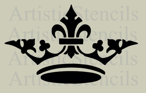 Crown No 7 Stencil - Various Sizes
