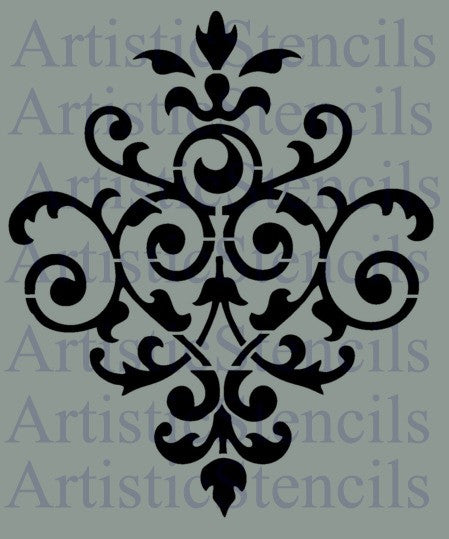Damask No 37 Stencil - Various Sizes