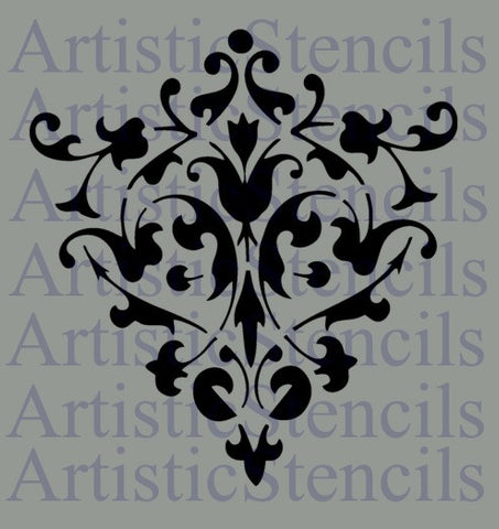 Damask No 38 Stencil - Various Sizes