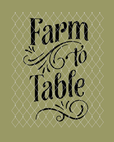 Farm to Table Farmhouse Stencil 10x6.5