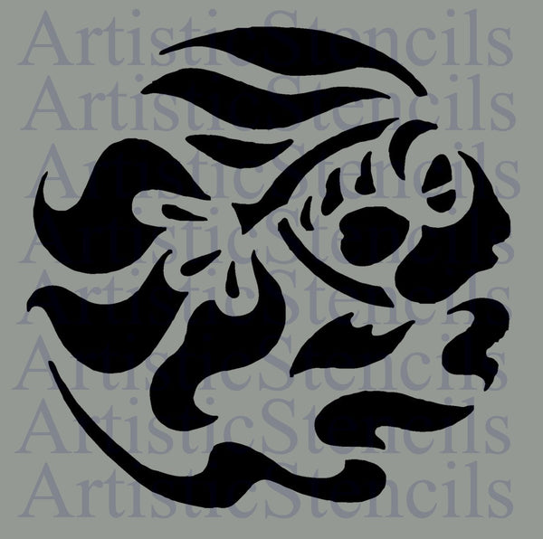Tropical Fish No 3 Stencil - Various sizes