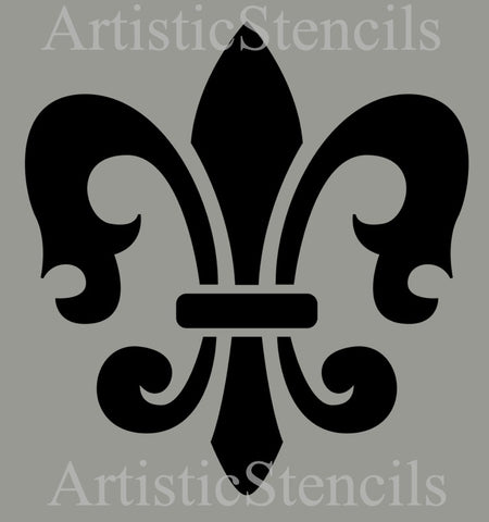 Fleur de lis No 4 Stencil - Various sizes