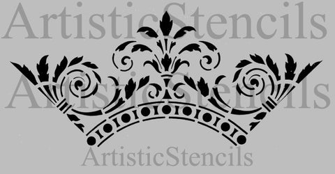 Ornamental Scroll Stencil 10x4.4