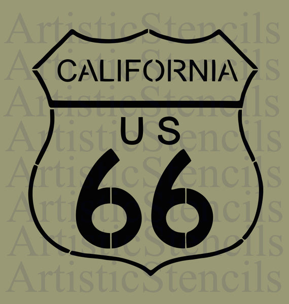 California Route 66 Stencil 10x9.5