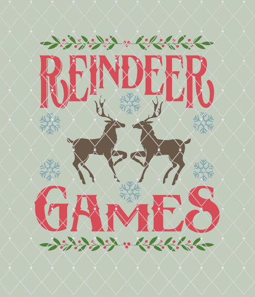 Reindeer Games Stencil 11x9.5   New!