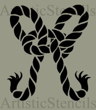 Rope Bow Stencil 10x8.5