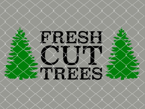Fresh Cut Trees Stencil   New!   10x4