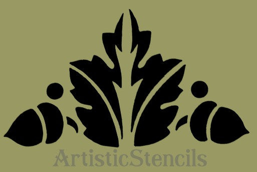 Acorns and Oak Leaf Stencil 8x4.5