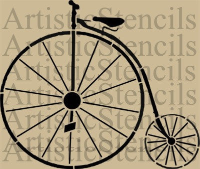 Penny Farthing Bicycle Stencil - Various sizes