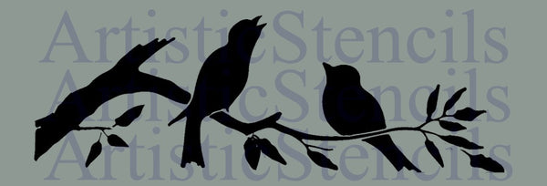 Birds on Branch Stencil 10x3.3