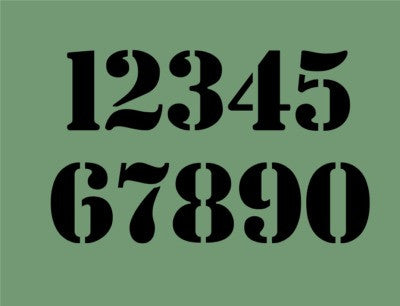 Bold & Chunky Number Stencil Set - Various Sizes