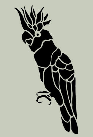 Cockatoo Stencil 10x5