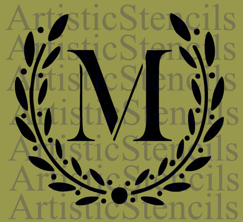 Custom Monogram Initial Wreath - Your Initial - Various sizes