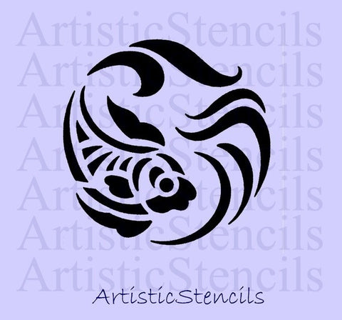 Art Deco Fish Stencil  - Various sizes