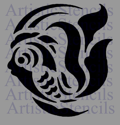 Tropical Fish Stencil - Various sizes