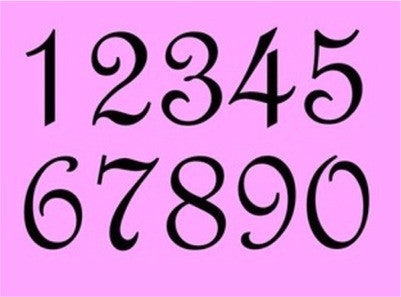 French Number Sets - Various Sizes