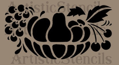 Fruit Bowl Stencil 10x5.1
