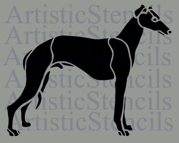 Greyhound Dog Stencil 8x10