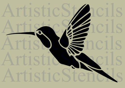 Hummingbird Stencil - Various sizes