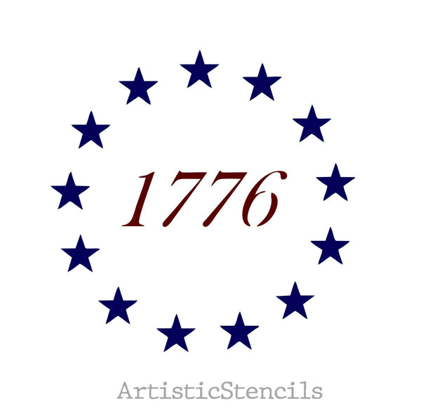 1776 Star USA Flag Betsy Ross Stencil - Various Sizes NEW