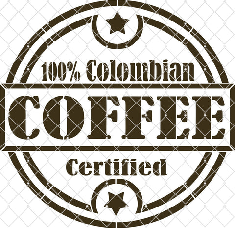 Columbian Coffee Stencil - Various Sizes  NEW
