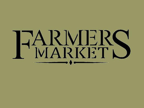 Farmers Market Farmhouse Stencil10x3   New!