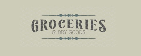 Groceries and Dry Goods Farmhouse Stencil10x3.5  New!