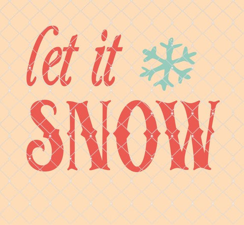 Let it Snow Stencil 8.5x6.5  NEW!