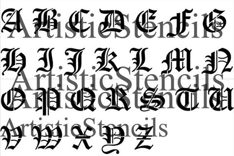 Individual old english letters 8 inches tall artistic stencil individual old english letters 3 inches tall altavistaventures Images