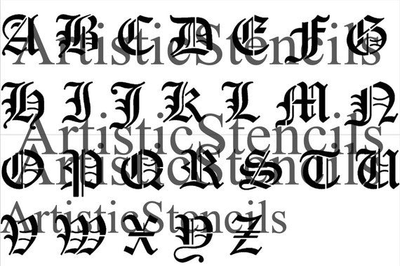 Individual old english letters inches tall artistic