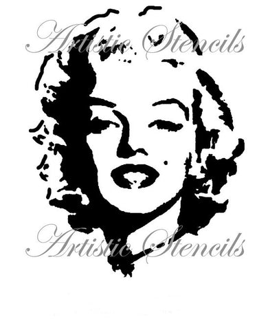 Full Face Marilyn Stencil 8x10