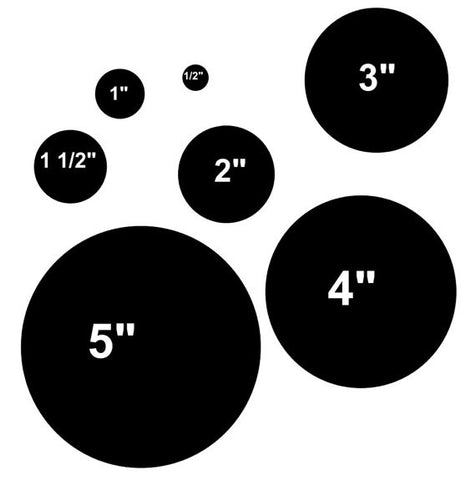Various Sizes of Circles on One Stencil