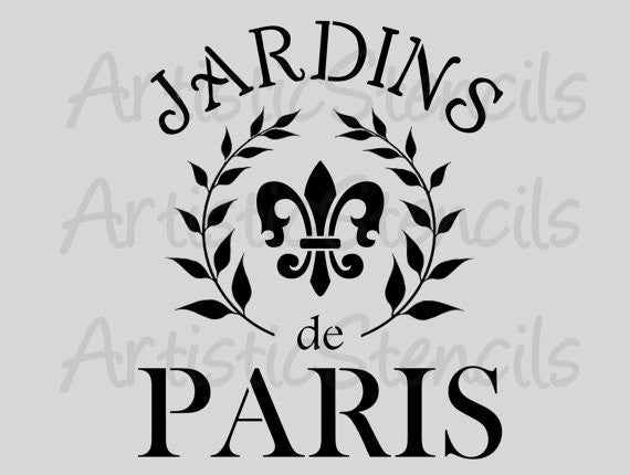 Jardins de Paris Stencil -Various sizes