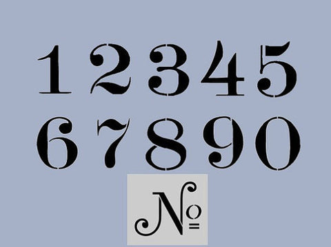 Old Typeface Numbers Stencil Set + No Stencil - Various sizes
