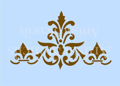 Damask Border Stencil - Various sizes