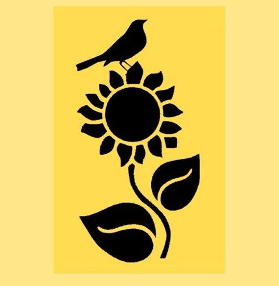 Sunflower Stencil - 10x5