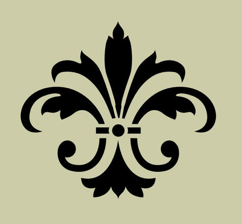 Fleur de lis No 8 Stencil - Various sizes