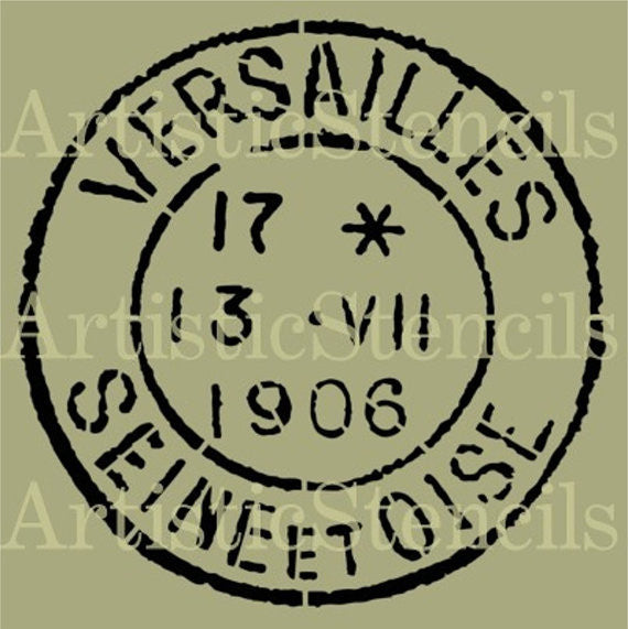 Versailles Postage Stamp Stencil - Various sizes