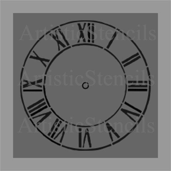 Antique Clock Stencil -  10x10 inch