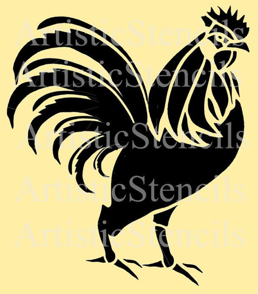 Rooster Stencil - 10x9