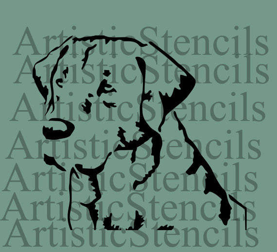 Labrador Retreiver Dog Stencil - Various sizes
