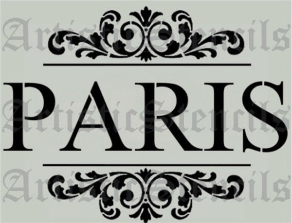 Paris Scroll Brackets Stencil 10x7.5