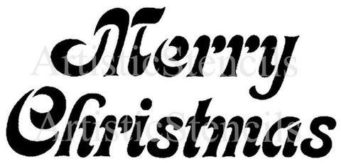 Merry Christmas Stencil - Various sizes