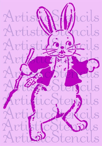 Easter Bunny Stencl 10x7