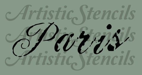 Distressed Paris Typography Stencil - Various sizes