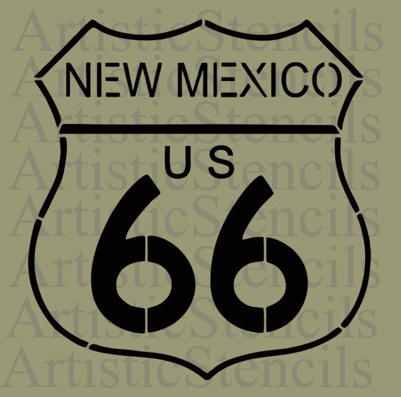 New Mexico Route 66 Stencil 10x9.5
