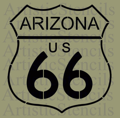 Arizona Route 66 Stencil 10x9.5