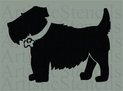 Scotty Dog Stencil 10x7.4