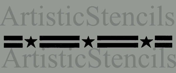 Stars Stripes Border Stencil 10x.75
